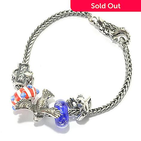 Trollbeads America The Beautiful Sterling Silver 7 5 Bead Bracelet Shophq