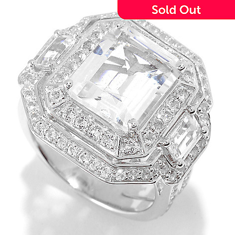 Peace Love Legacy Sterling Silver 6 89ctw White Topaz Gemstone Ring Shophq