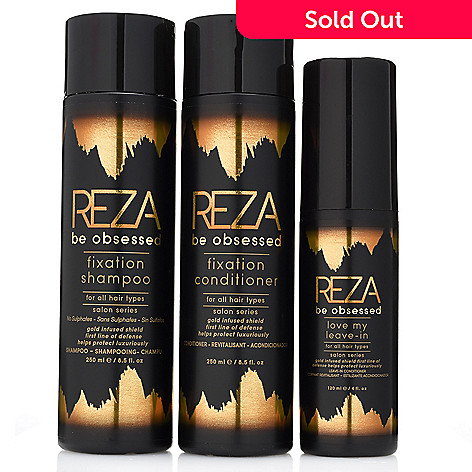Reza Be Obsessed Haircare 3 Piece Shampoo Conditioner Leave In Conditioner System Shophq