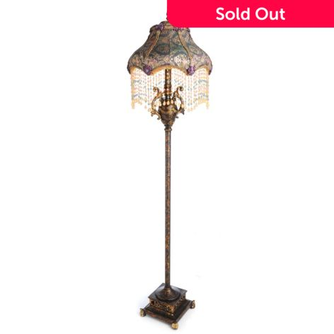 Style At Home With Margie 67 5 Pemelia S Beaded Floor Lamp Shophq
