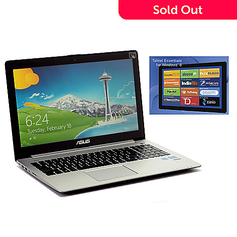 Asus 15 6 Touch Screen Windows 8 6gb Ram 500gb Hdd Core I5 Notebook W Software Shophq