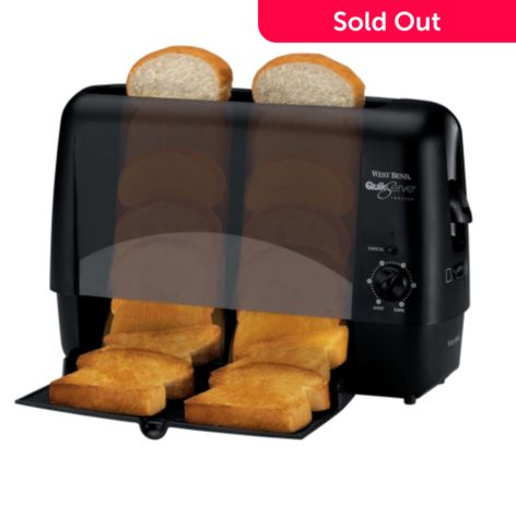 West Bend Quik Serv Toaster W Removable Serving Tray Shophq