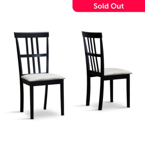 Baxton Studio Set Of Two 27 25 Jet Moon Dining Chairs Shophq