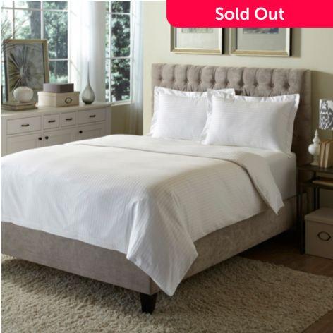 Behrens England 100 Cotton Damask 3 Piece Duvet Cover Set Shophq