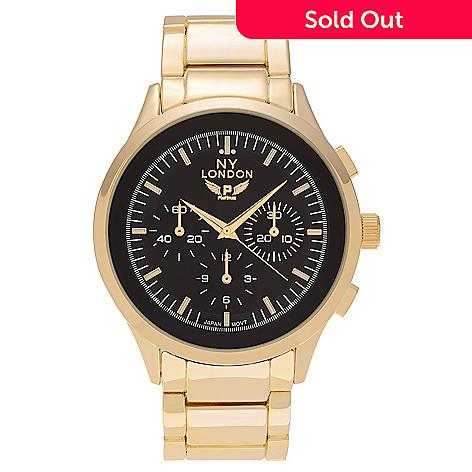 NY London Men's 48mm Quartz Bracelet Watch - ShopHQ
