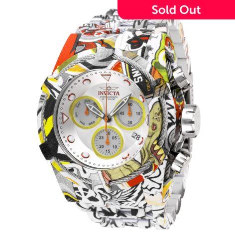 Invicta 42mm Or 52mm Bolt Zeus Graffiti Quartz Chronograph Hydroplated Bracelet Watch Shophq