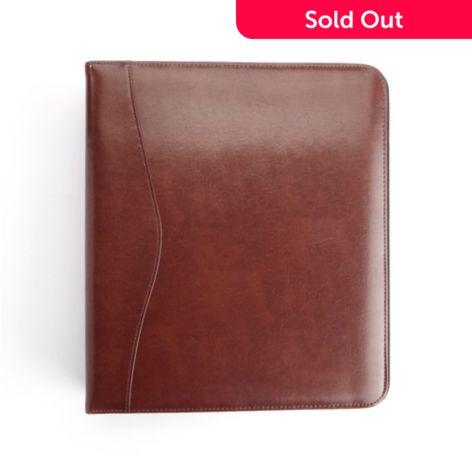 royce new york executive leather 1 5 d ring binder shophq shophq